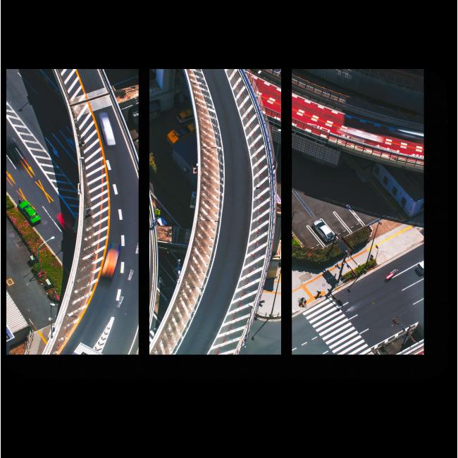 Модульная картина Надземные дороги Токио