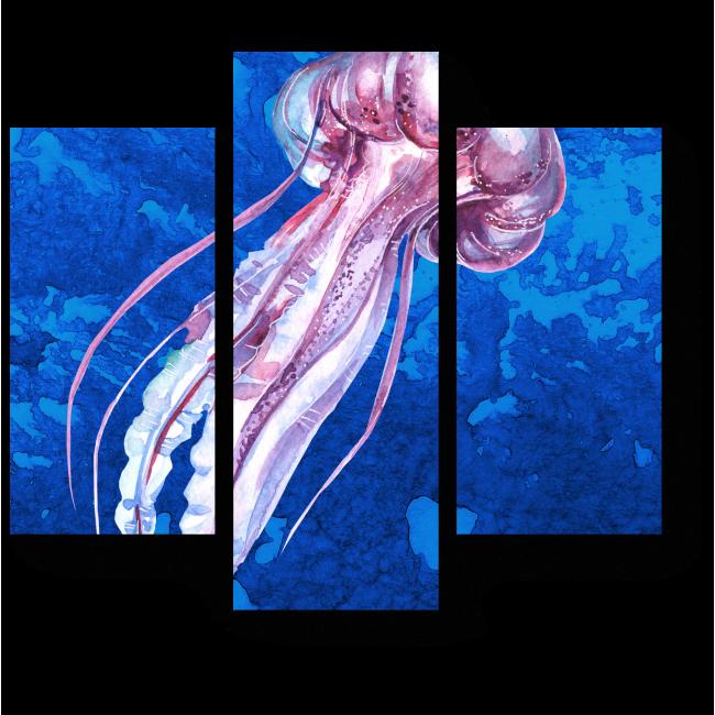 Модульная картина Королевская медуза