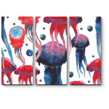Модульная картина Краски подводного мира