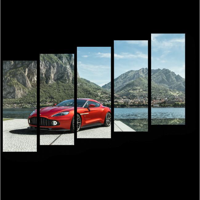 Модульная картина Красный цвет для самых быстрых