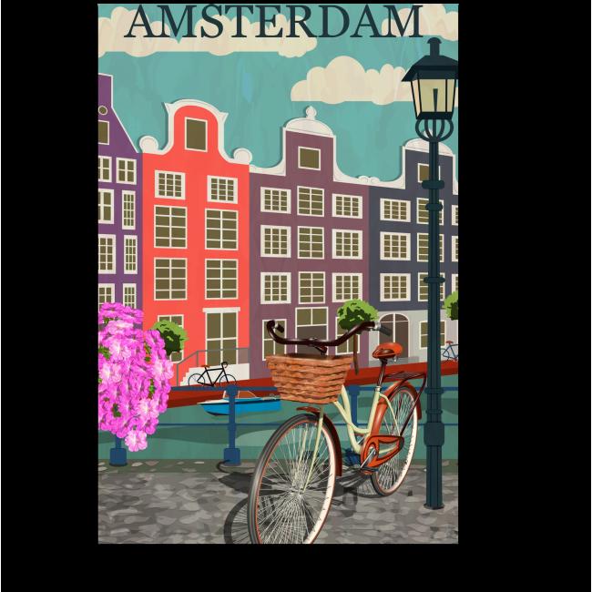 Модульная картина Векторный Амстердам