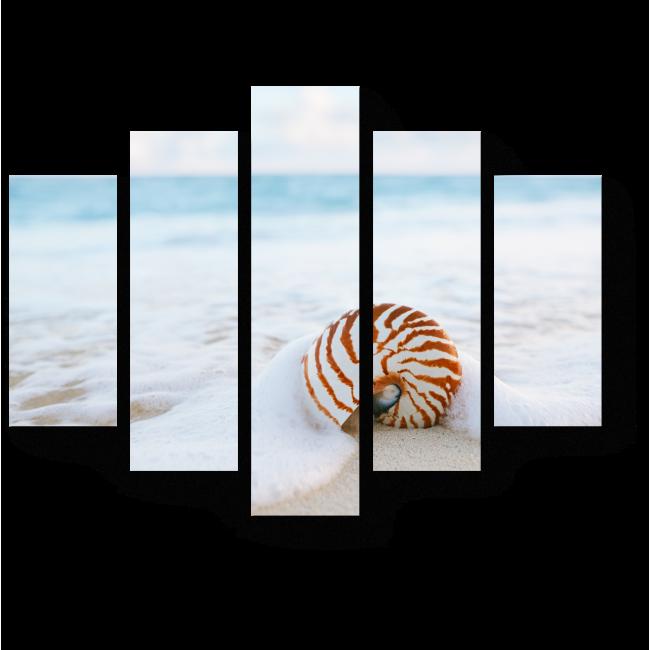 Модульная картина Морской прибой