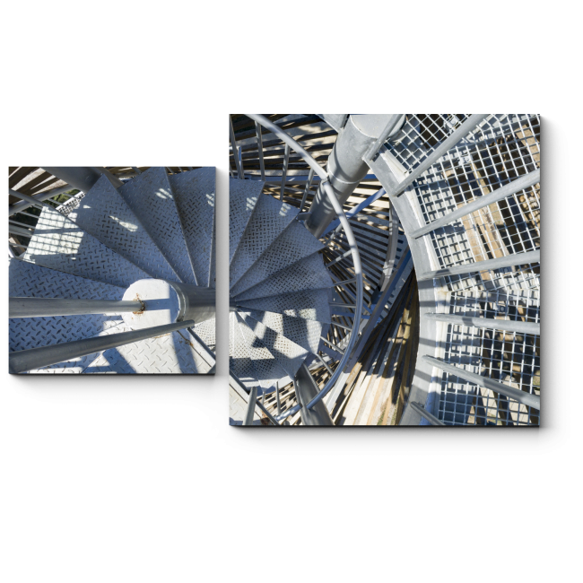 Модульная картина Металлическая винтовая лестница