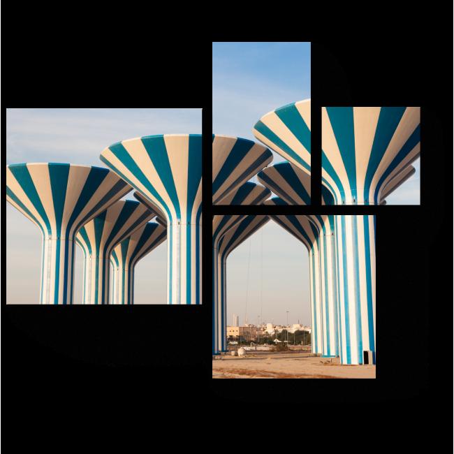Модульная картина Башни Кувейта