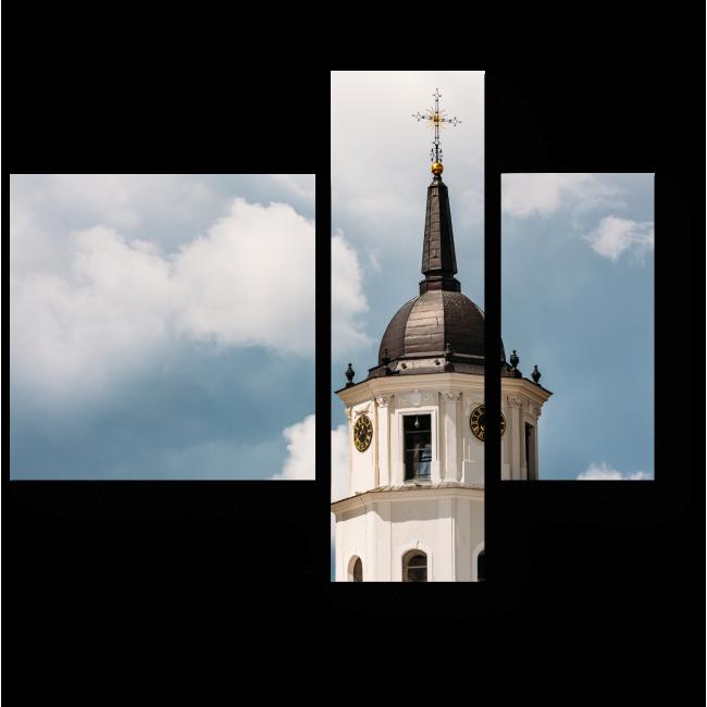 Модульная картина  Колокольня в Литве