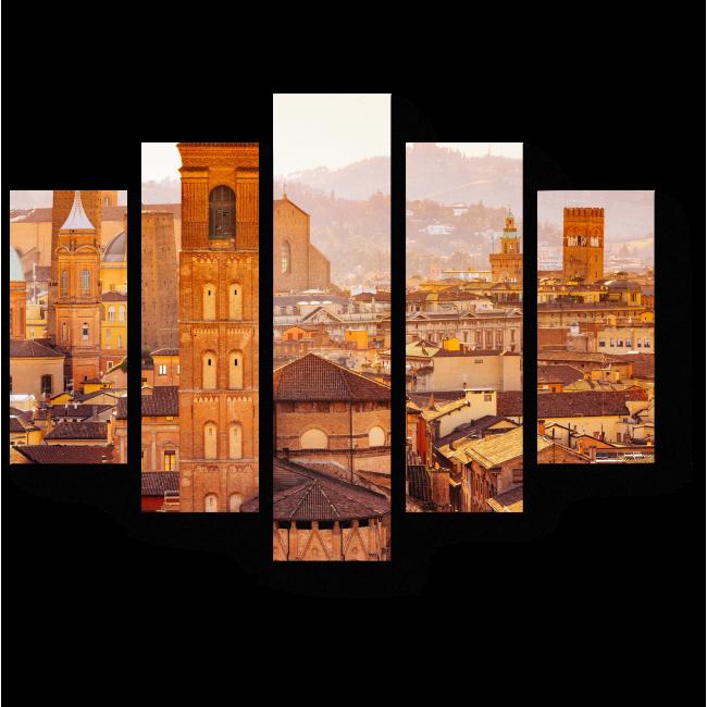 Модульная картина Итальянский пригород