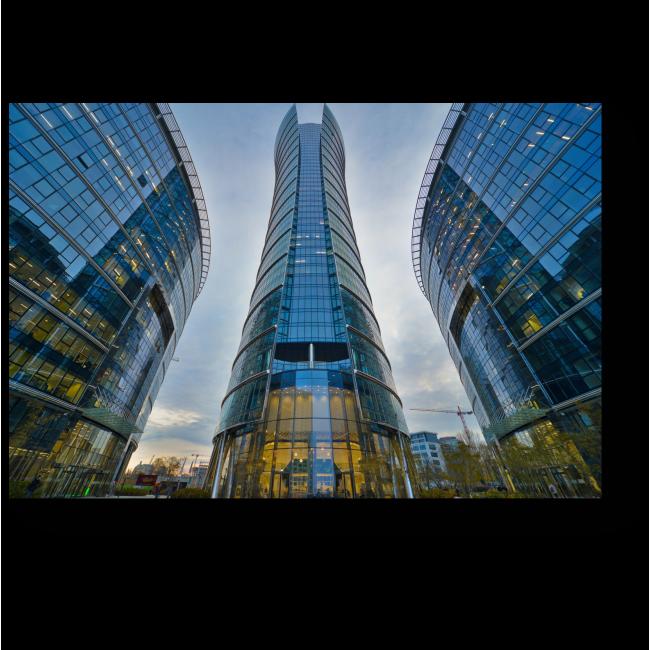 Модульная картина Зеркальная башня, Варшава