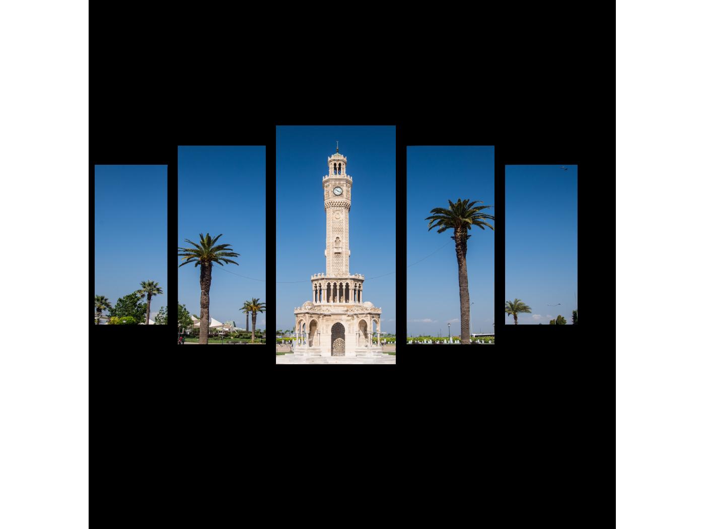 Модульная картина Измирская часовая башня в Турции (100x55) фото