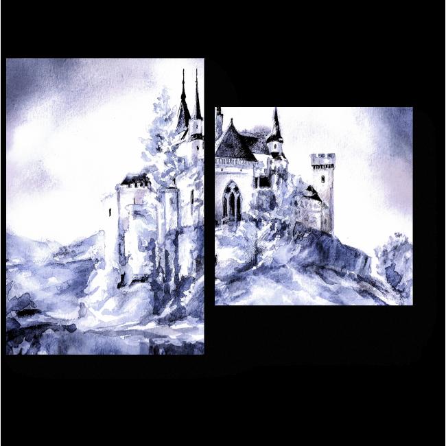 Модульная картина Фантастический сказочный замок