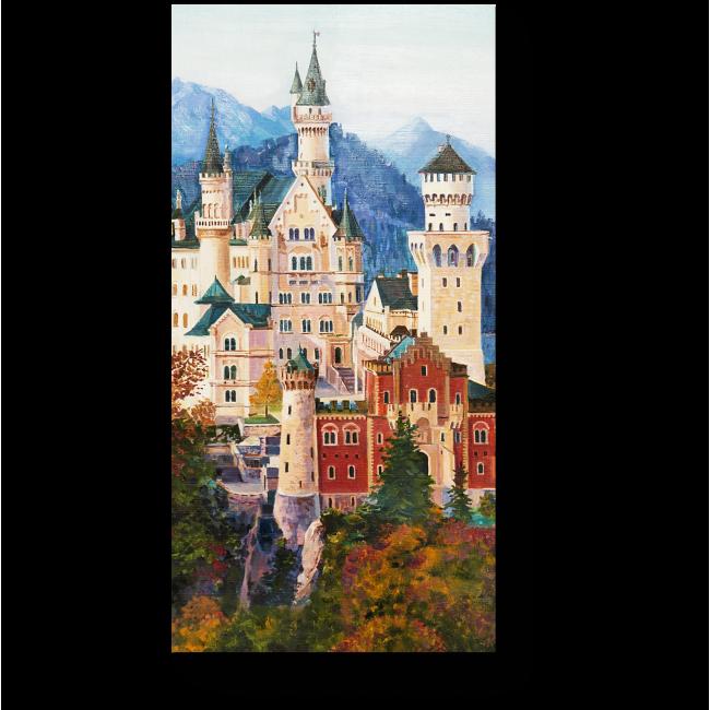 Модульная картина Живопись замка Нойшванштайн в Баварии