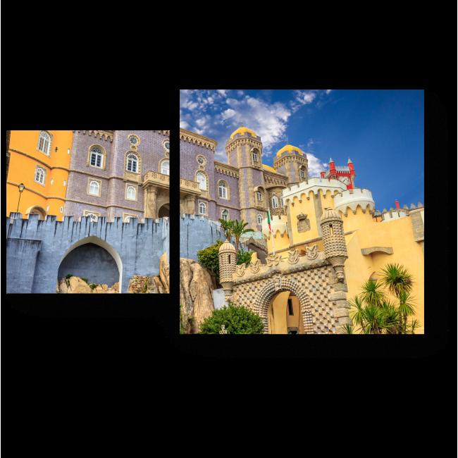 Модульная картина Красочный замок Синтра в Португалии