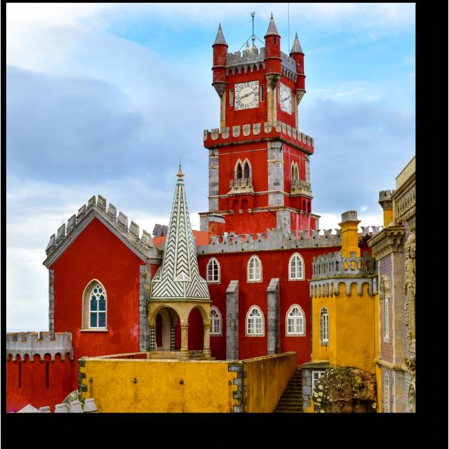 Модульная картина Романтический замок в Португалии