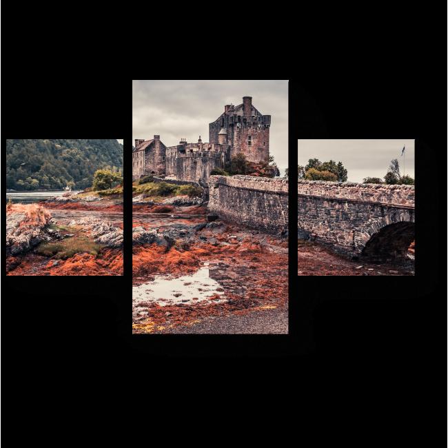 Модульная картина Замок Эйлен Донан в Шотландии в закате