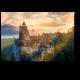 Средневековый замок Дракулы Бран в свете заката