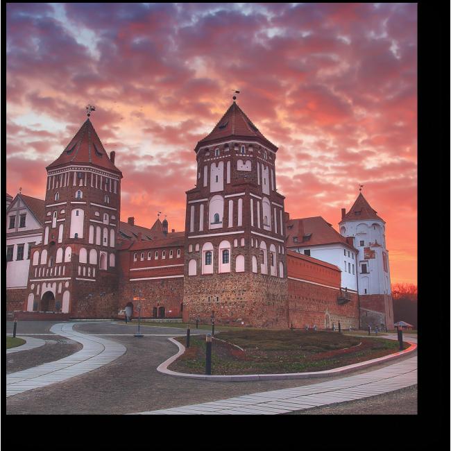 Модульная картина Мирский замок в Беларуси