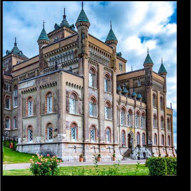 Модульная картина Пейзаж замка