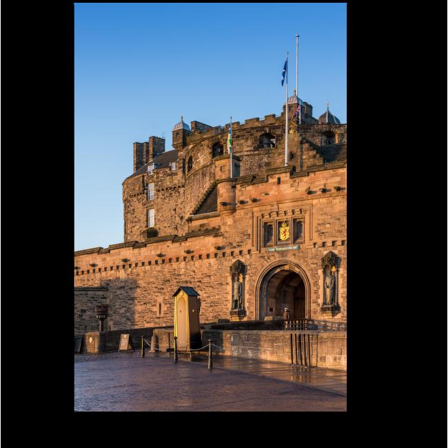 Модульная картина Эдинбургский замок на рассвете