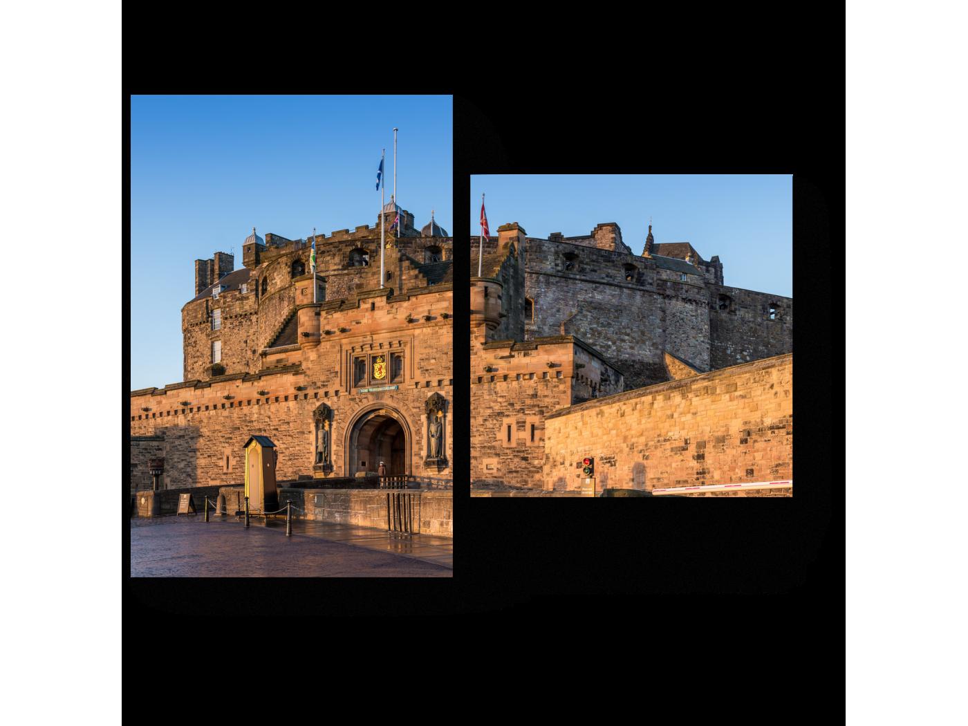 Модульная картина Эдинбургский замок на рассвете (40x30) фото