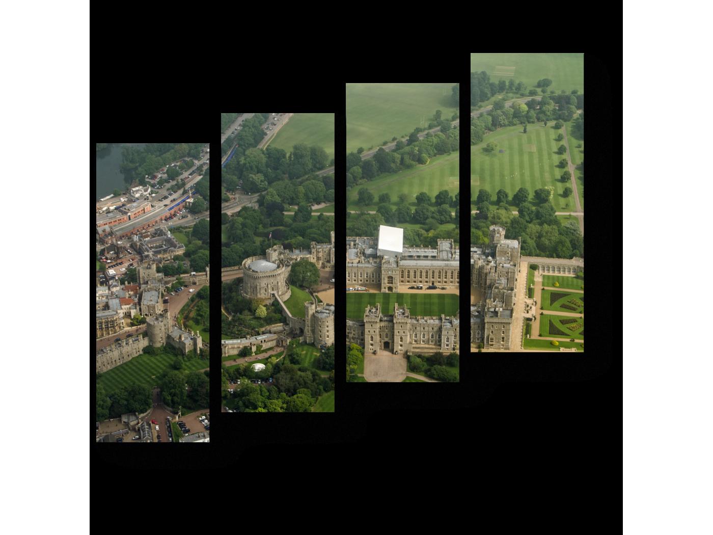 Модульная картина Виндзорский замок (80x69) фото