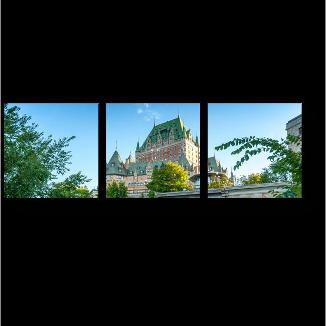 Модульная картина  Квебекский городской замок.
