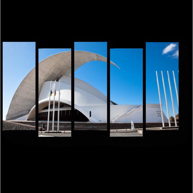 Модульная картина Архитектурный символ города Санта-Крус-де-Тенерифе
