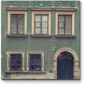 Модульная картина Старинная фасадная стена