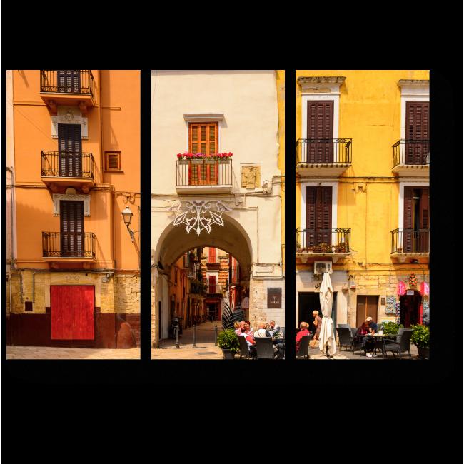 Модульная картина Архитектура Старого города Бари