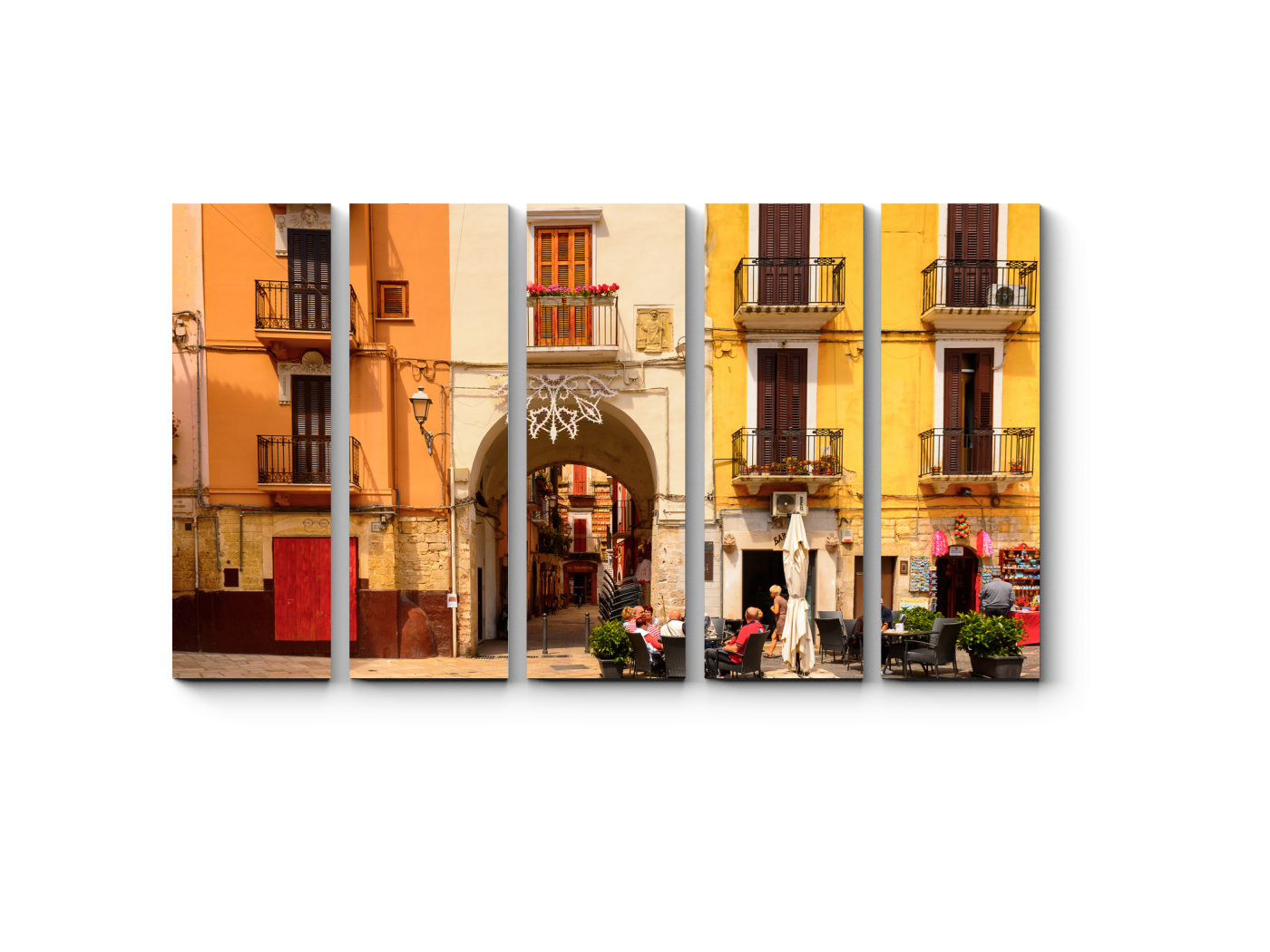 Модульная картина Архитектура Старого города Бари (90x54) фото
