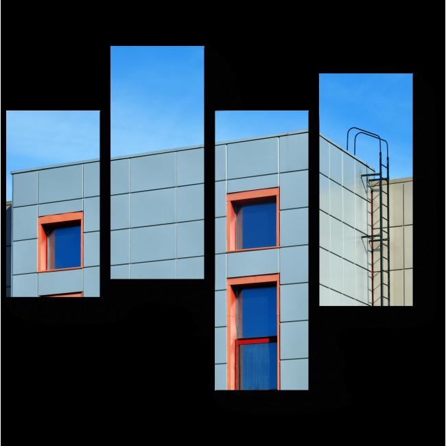 Модульная картина Фасад современного здания