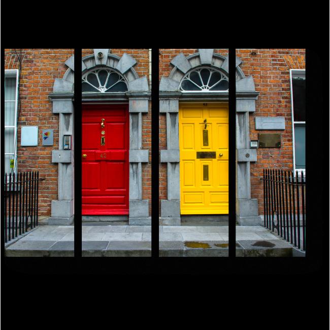 Модульная картина Красочные двери в Килкенни