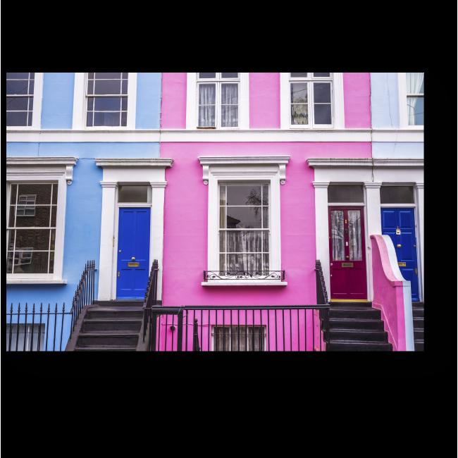 Модульная картина Красочные дома в Ноттинг-Хилл
