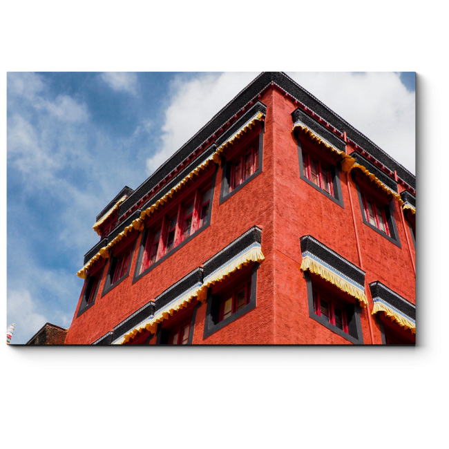 Модульная картина Тибетская архитектура