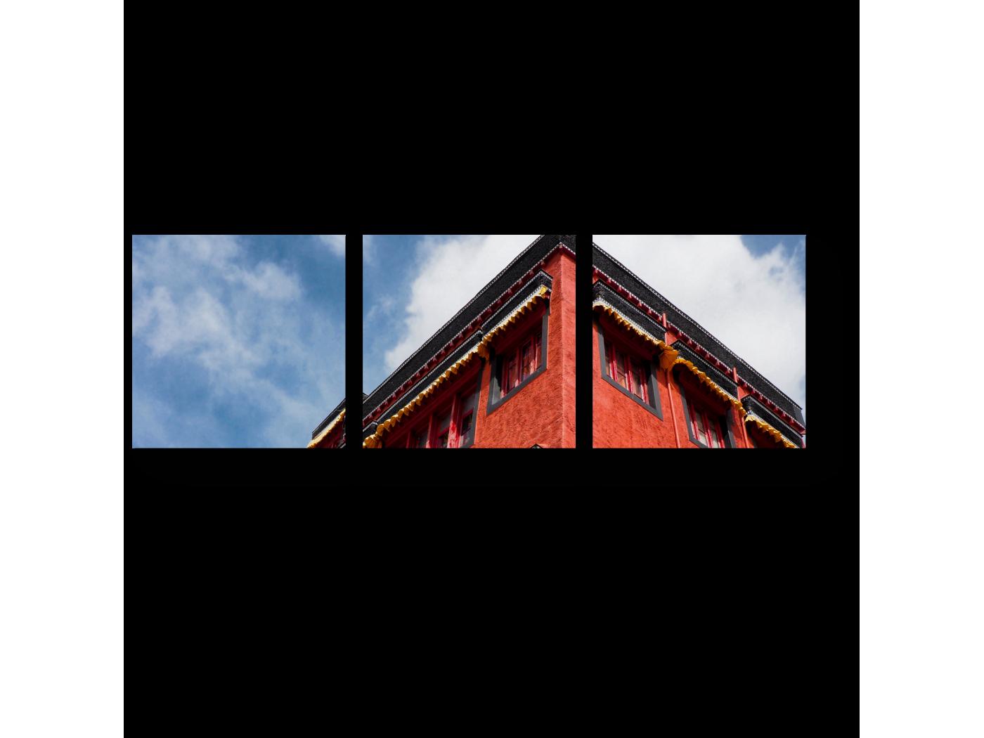 Модульная картина Тибетская архитектура (60x20) фото