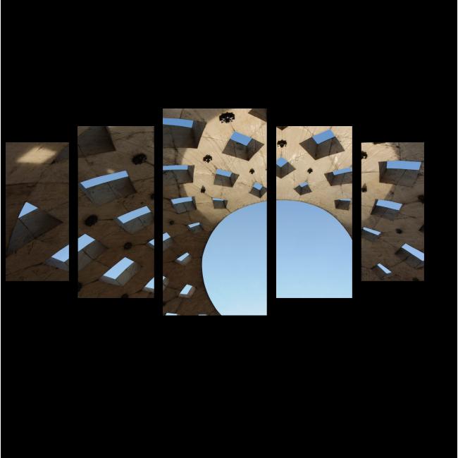 Модульная картина Крыша современного здания