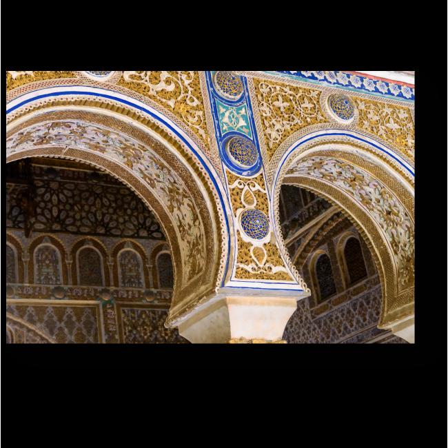 Модульная картина Декорированные подковы арки