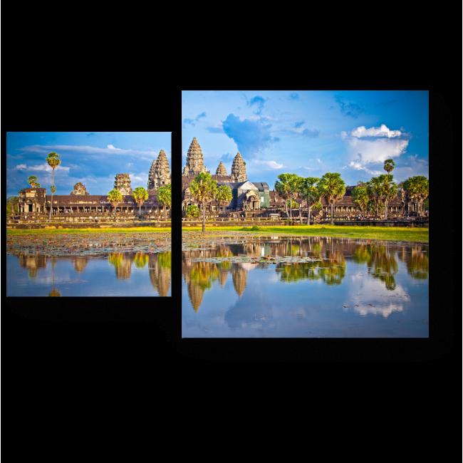 Модульная картина Знаменитый храмовый комплекс Ангкор-Ват