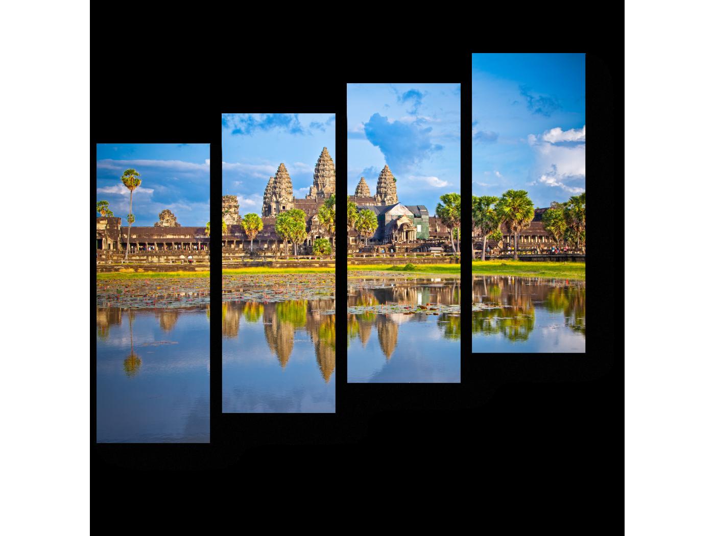 Модульная картина Знаменитый храмовый комплекс Ангкор-Ват (80x69) фото