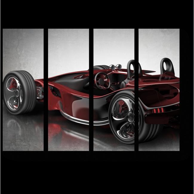 Модульная картина Красный спортивный автомобиль
