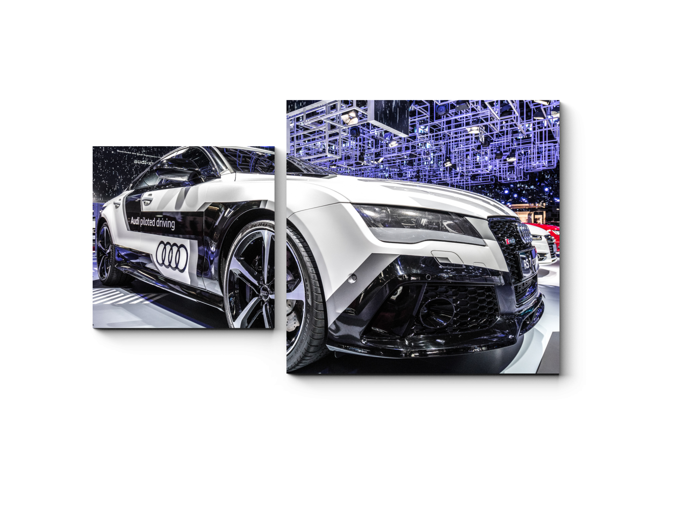 Модульная картина Audi S7 в Париже (50x30) фото