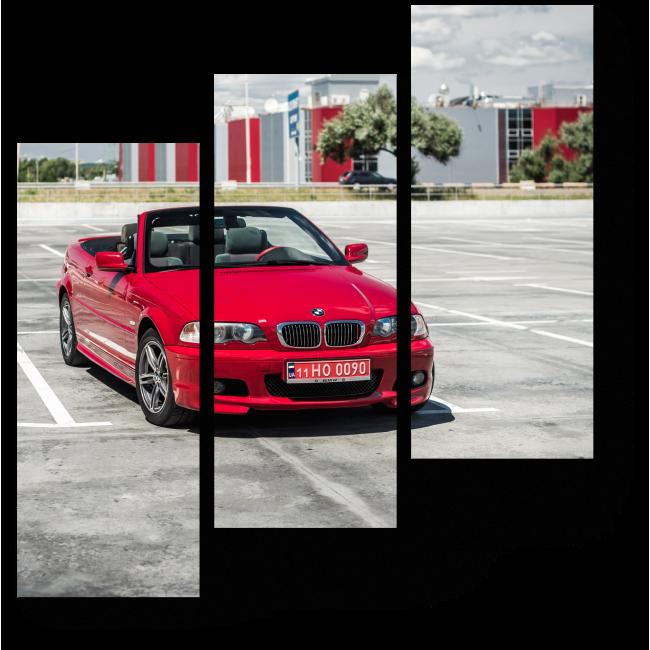 Модульная картина BMW 3 серии кабриолет