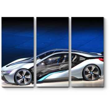 Модульная картина Электронный концепт-кар BMW i8