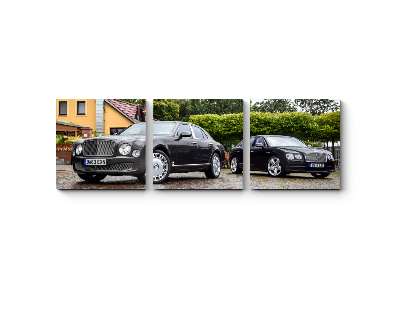 Модульная картина Bentley Mulsanne (60x20) фото