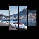 Белоснежный кабриолет на пристани
