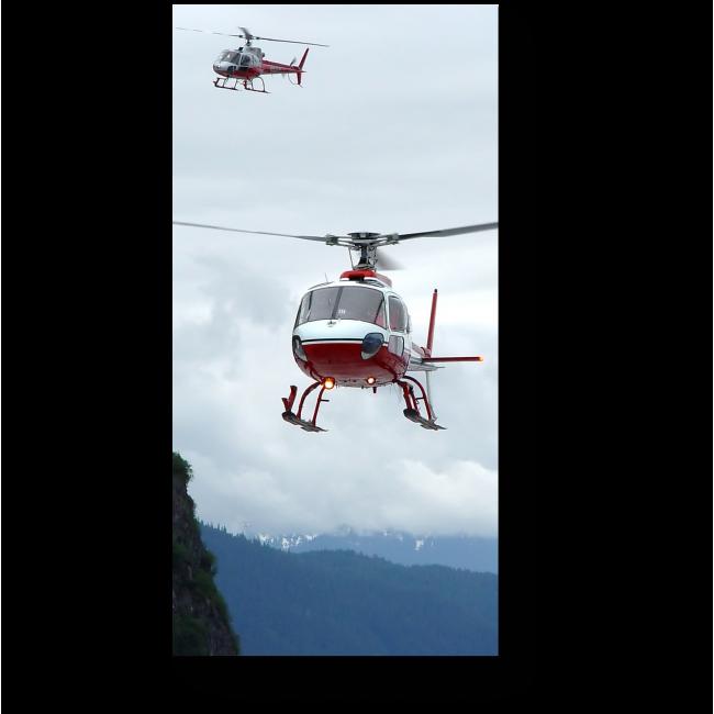 Модульная картина Гонка вертолетов