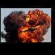 Вертолет против гигантского взрыва