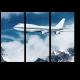 Пассажирский самолет в облаках