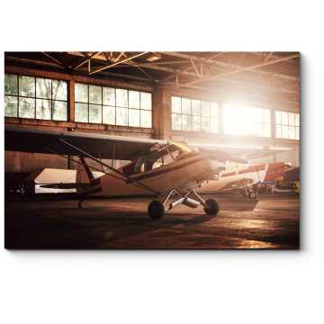 Самолет в гараже