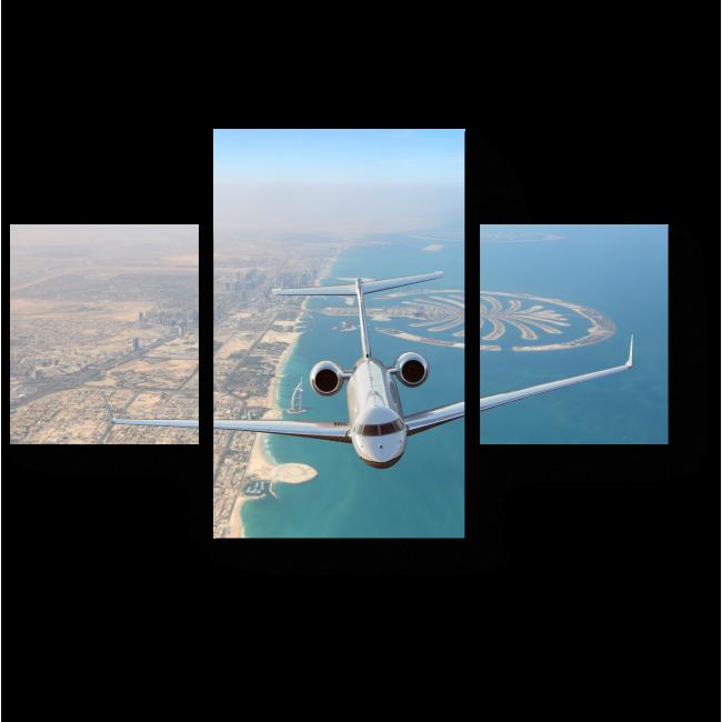 Модульная картина Пролетая над Дубаем