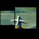Самолет выруливает для взлета