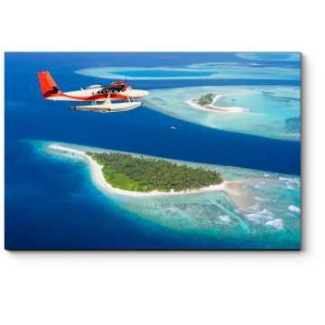 Модульная картина Летающий над Мальдивами
